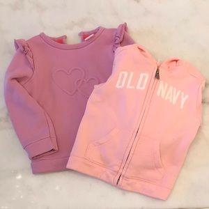 Toddler sweatshirt bundle